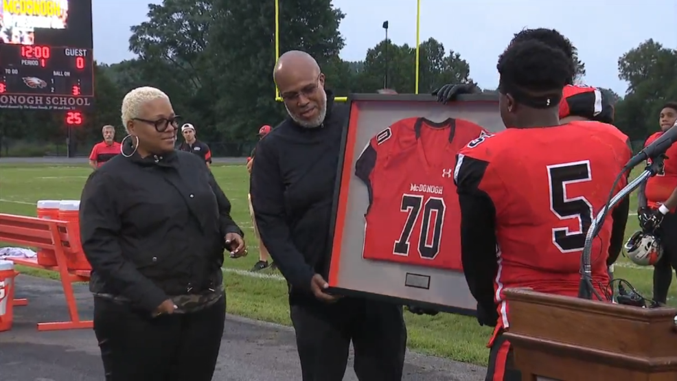 retiring jordan mcnair's jersey via fox baltimore
