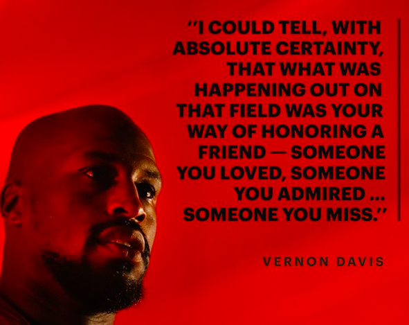 vernon davis to jordan mcnair via players tribune